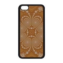 Fractal Pattern Decoration Abstract Apple Iphone 5c Seamless Case (black) by Simbadda