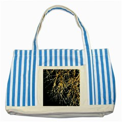Nature Model No One Wallpaper Striped Blue Tote Bag by Simbadda
