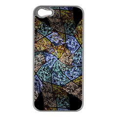 Multi Color Tile Twirl Octagon Apple Iphone 5 Case (silver) by Simbadda