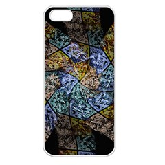 Multi Color Tile Twirl Octagon Apple Iphone 5 Seamless Case (white) by Simbadda