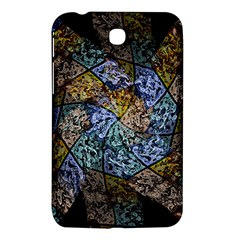 Multi Color Tile Twirl Octagon Samsung Galaxy Tab 3 (7 ) P3200 Hardshell Case  by Simbadda