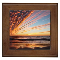 Sunset Beach Ocean Scenic Framed Tiles