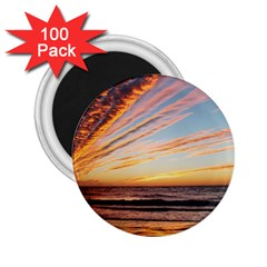 Sunset Beach Ocean Scenic 2 25  Magnets (100 Pack)  by Simbadda