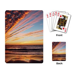 Sunset Beach Ocean Scenic Playing Cards Single Design by Simbadda