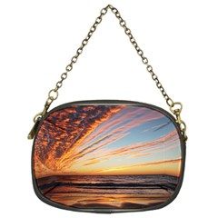 Sunset Beach Ocean Scenic Chain Purse (two Sides)