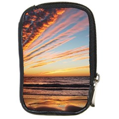 Sunset Beach Ocean Scenic Compact Camera Leather Case