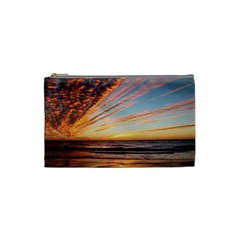 Sunset Beach Ocean Scenic Cosmetic Bag (small)