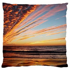 Sunset Beach Ocean Scenic Large Cushion Case (one Side)