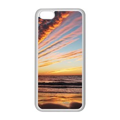 Sunset Beach Ocean Scenic Apple Iphone 5c Seamless Case (white) by Simbadda