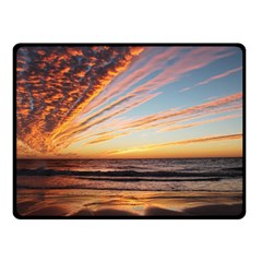 Sunset Beach Ocean Scenic Double Sided Fleece Blanket (small)  by Simbadda