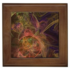Abstract Colorful Art Design Framed Tiles