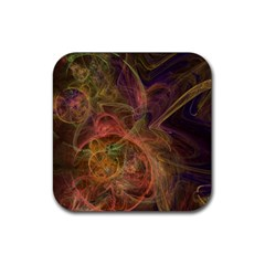Abstract Colorful Art Design Rubber Square Coaster (4 Pack)  by Simbadda