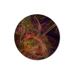 Abstract Colorful Art Design Rubber Round Coaster (4 Pack)  by Simbadda