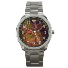 Abstract Colorful Art Design Sport Metal Watch by Simbadda