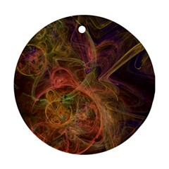 Abstract Colorful Art Design Round Ornament (two Sides) by Simbadda