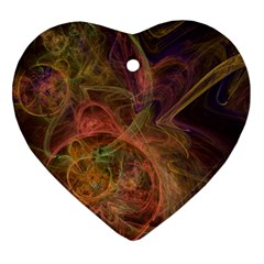 Abstract Colorful Art Design Heart Ornament (two Sides) by Simbadda
