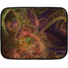 Abstract Colorful Art Design Double Sided Fleece Blanket (mini)  by Simbadda