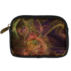 Abstract Colorful Art Design Digital Camera Leather Case by Simbadda