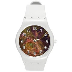 Abstract Colorful Art Design Round Plastic Sport Watch (m) by Simbadda
