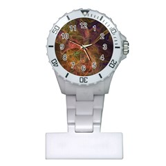 Abstract Colorful Art Design Plastic Nurses Watch by Simbadda