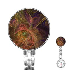 Abstract Colorful Art Design Stainless Steel Nurses Watch by Simbadda
