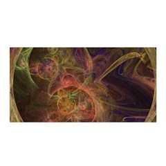 Abstract Colorful Art Design Satin Wrap