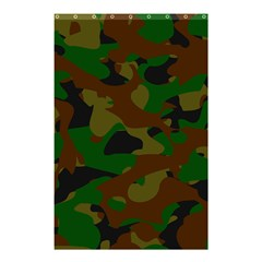 Camouflage Military Cool Dark Pattern  Shower Curtain 48  X 72  (small)  by xsylxdesigns