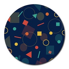 Background Backdrop Geometric Round Mousepads by Celenk