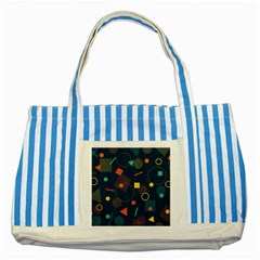 Background Backdrop Geometric Striped Blue Tote Bag by Celenk