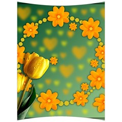Background Design Texture Tulips Back Support Cushion