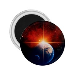 Earth Globe Planet Space Universe 2 25  Magnets by Celenk