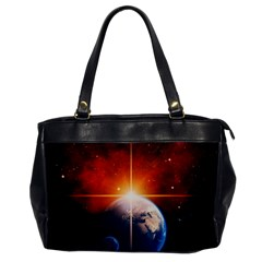 Earth Globe Planet Space Universe Oversize Office Handbag by Celenk