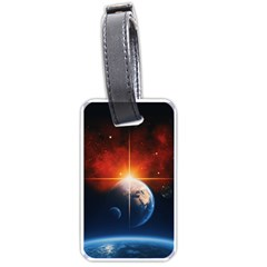 Earth Globe Planet Space Universe Luggage Tags (two Sides)