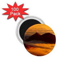 Fog Clouds Sea Of Fog Mountain 1 75  Magnets (100 Pack)