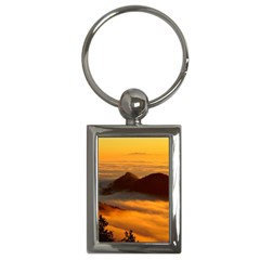 Fog Clouds Sea Of Fog Mountain Key Chains (rectangle)