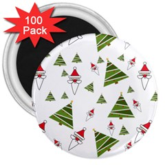 Christmas Santa Claus Decoration 3  Magnets (100 Pack) by Celenk