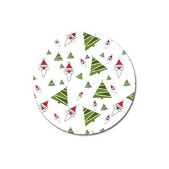 Christmas Santa Claus Decoration Magnet 3  (round) by Celenk