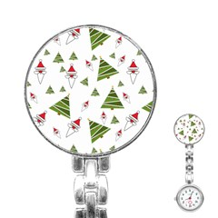 Christmas Santa Claus Decoration Stainless Steel Nurses Watch by Celenk