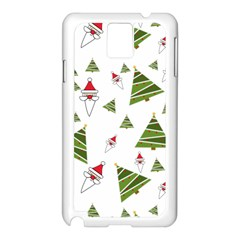 Christmas Santa Claus Decoration Samsung Galaxy Note 3 N9005 Case (white) by Celenk