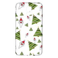 Christmas Santa Claus Decoration Samsung Galaxy S5 Back Case (white) by Celenk