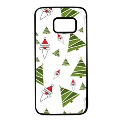 Christmas Santa Claus Decoration Samsung Galaxy S7 Black Seamless Case by Celenk