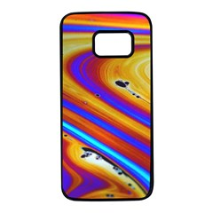 Soap Bubble Color Colorful Samsung Galaxy S7 Black Seamless Case by Celenk