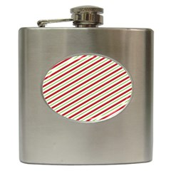 Stripes Striped Design Pattern Hip Flask (6 Oz) by Celenk