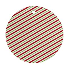 Stripes Striped Design Pattern Round Ornament (two Sides) by Celenk