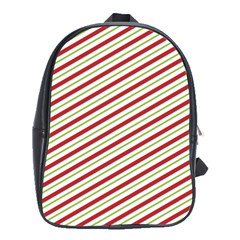 Stripes Striped Design Pattern School Bag (xl) by Celenk