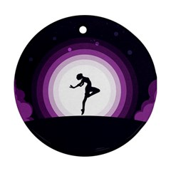 Woman Moon Fantasy Composing Night Ornament (round) by Celenk