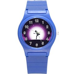 Woman Moon Fantasy Composing Night Round Plastic Sport Watch (s)