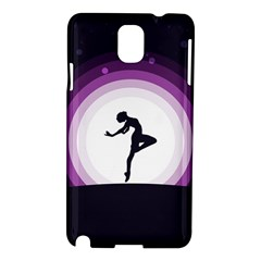 Woman Moon Fantasy Composing Night Samsung Galaxy Note 3 N9005 Hardshell Case by Celenk