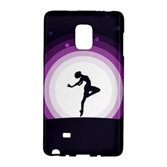 Woman Moon Fantasy Composing Night Samsung Galaxy Note Edge Hardshell Case by Celenk