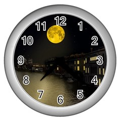 Travel Architecture Tourism Venice Wall Clock (silver)